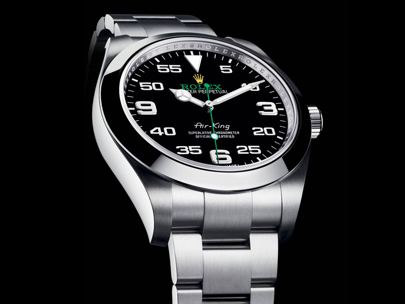 40mm Oyster Case Rolex Air-King Black Dial Replica Watch