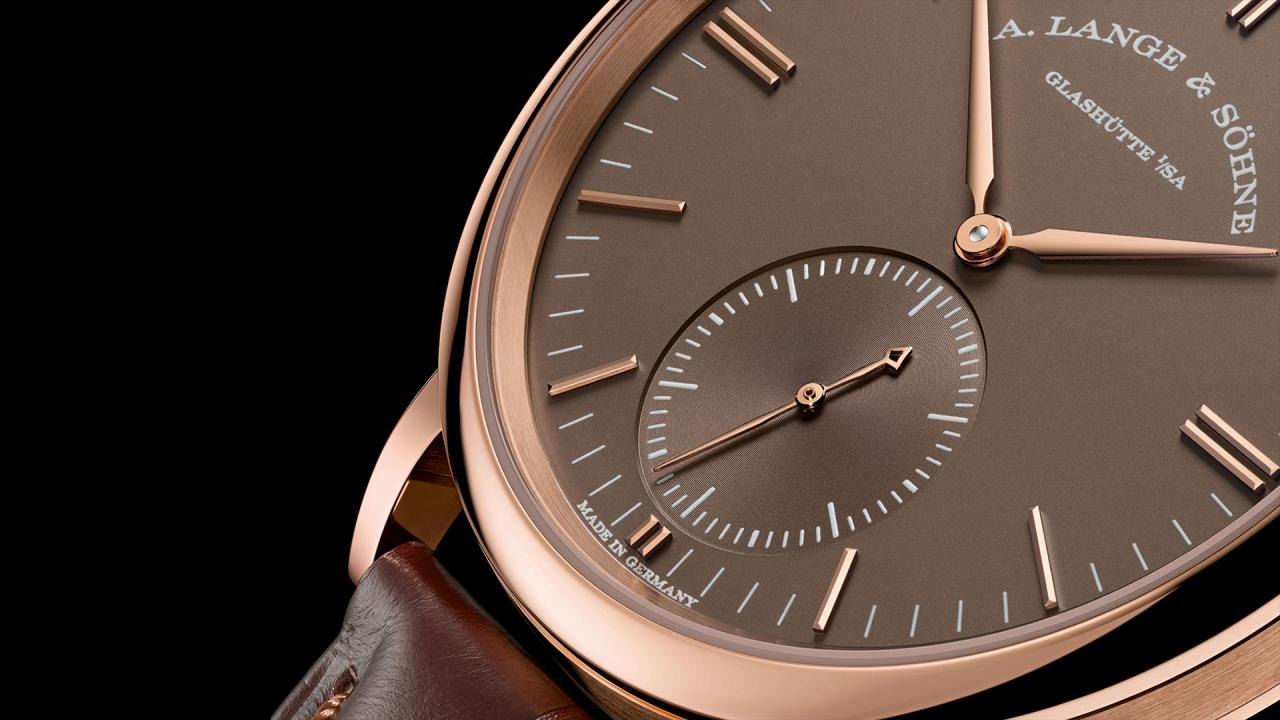 "A. Lange & Söhne Saxonia Automatic in ""Terra-Brown"""